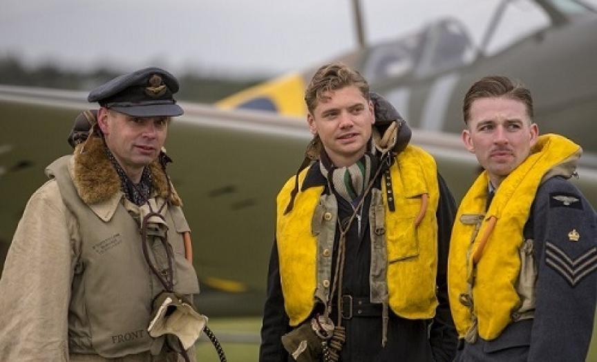 Costumed actors at Duxford Air Shows
