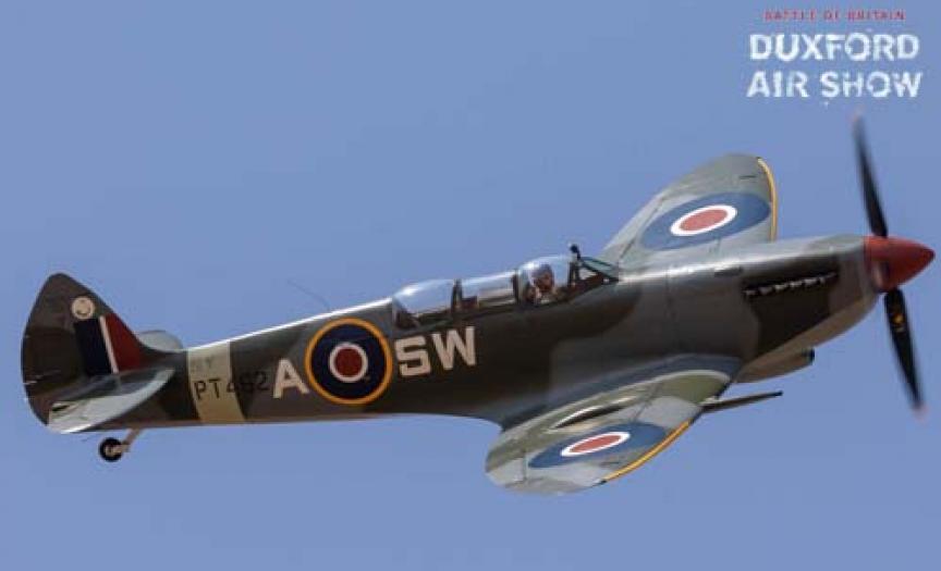 Spitfire T9 PT462 ARC at Duxford Air Shows