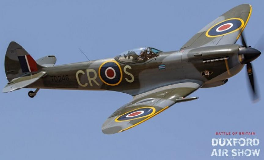 Spitfire Mk.XVI TD248 atDuxford Air Shows