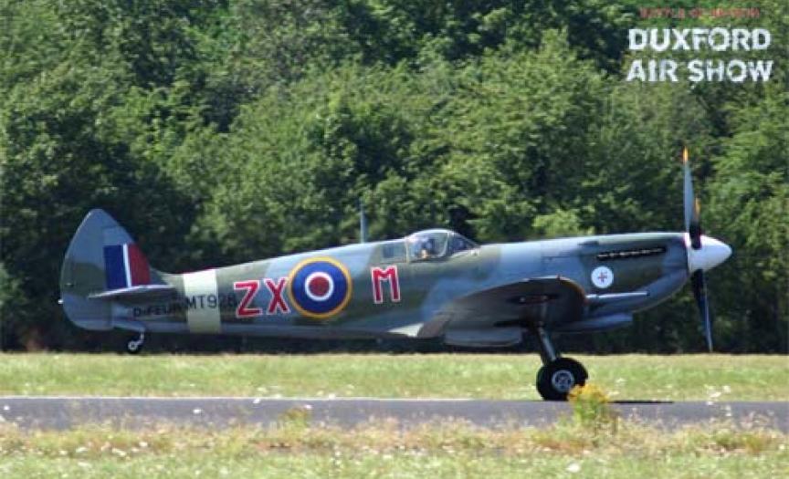 Spitfire Mk.VIII at Duxford Air Shows