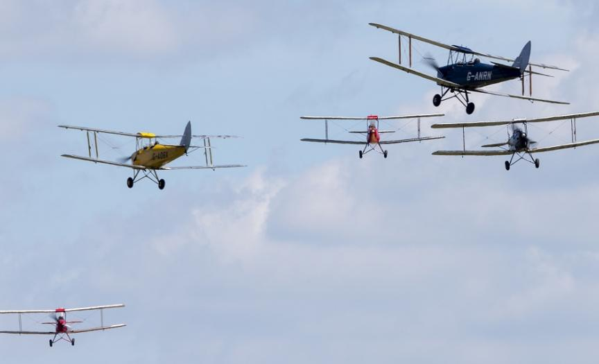 Tiger 9 Display team at Duxford Air Shows