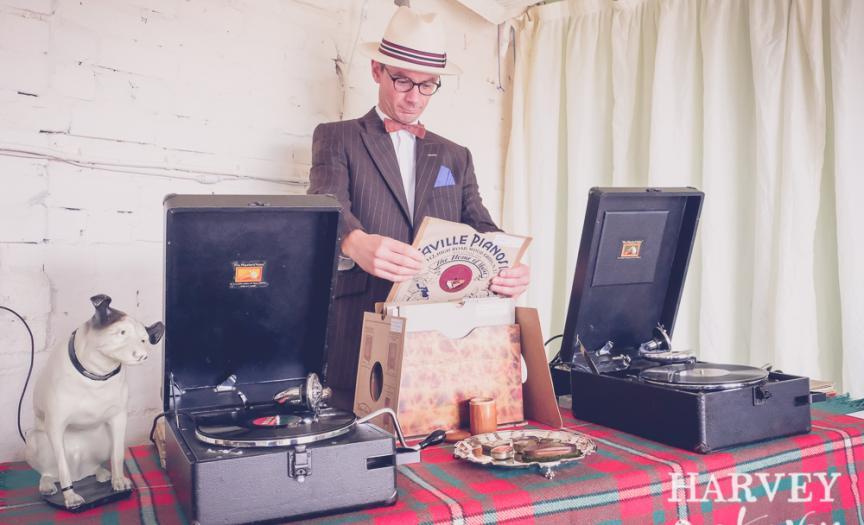 The Vintage Gramophone DJ at Duxford Air Show