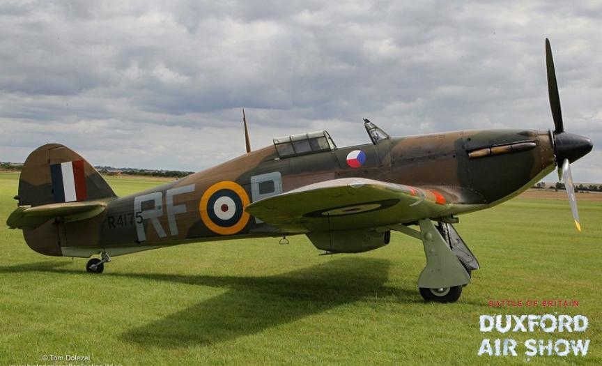HAC Hawker Hurricane in new RAF Czech markings