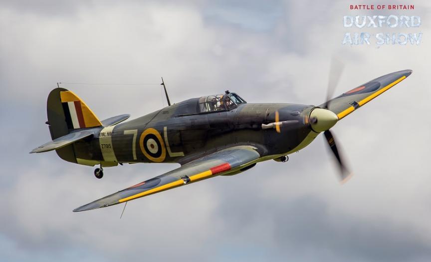 Sea Hurricane Mk.Ib against an overcast sky