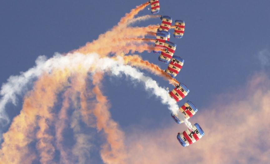 RAF Falcons freefall display