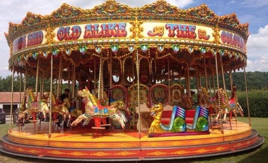 Fun fair at Duxford Battle of Britain Air Show