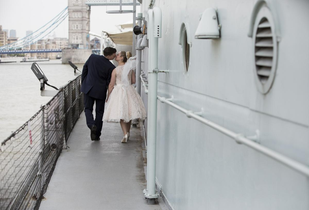 Wedding at HMS Belfast