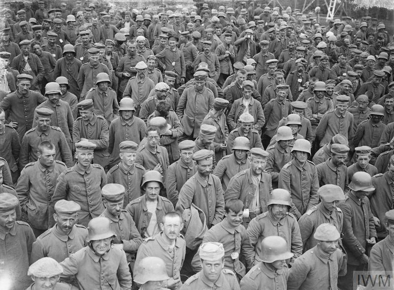 German prisoners taken during the Battle of Messines, 8th June 1917.