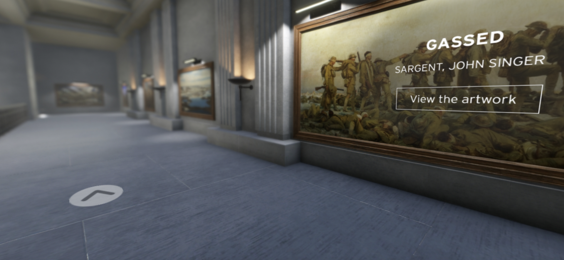 A screenshot from the IWM's interactive hall of remembrance, which was planned for after the First World War but never happened