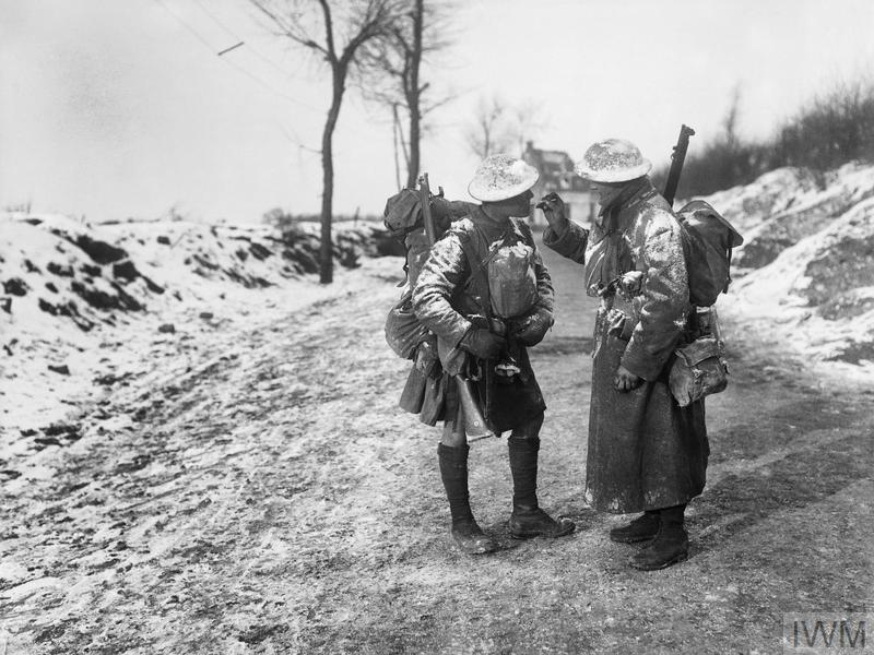 South African soldiers on the Somme, December 1916