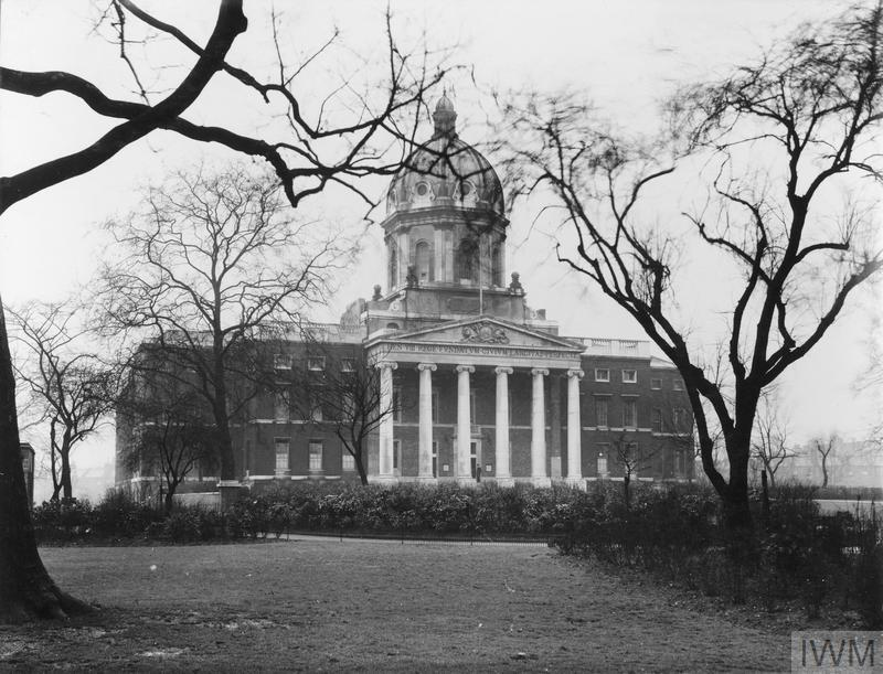 Exterior view of the Imperial War Museum in its new quarters at Lambeth Road, London, 1937