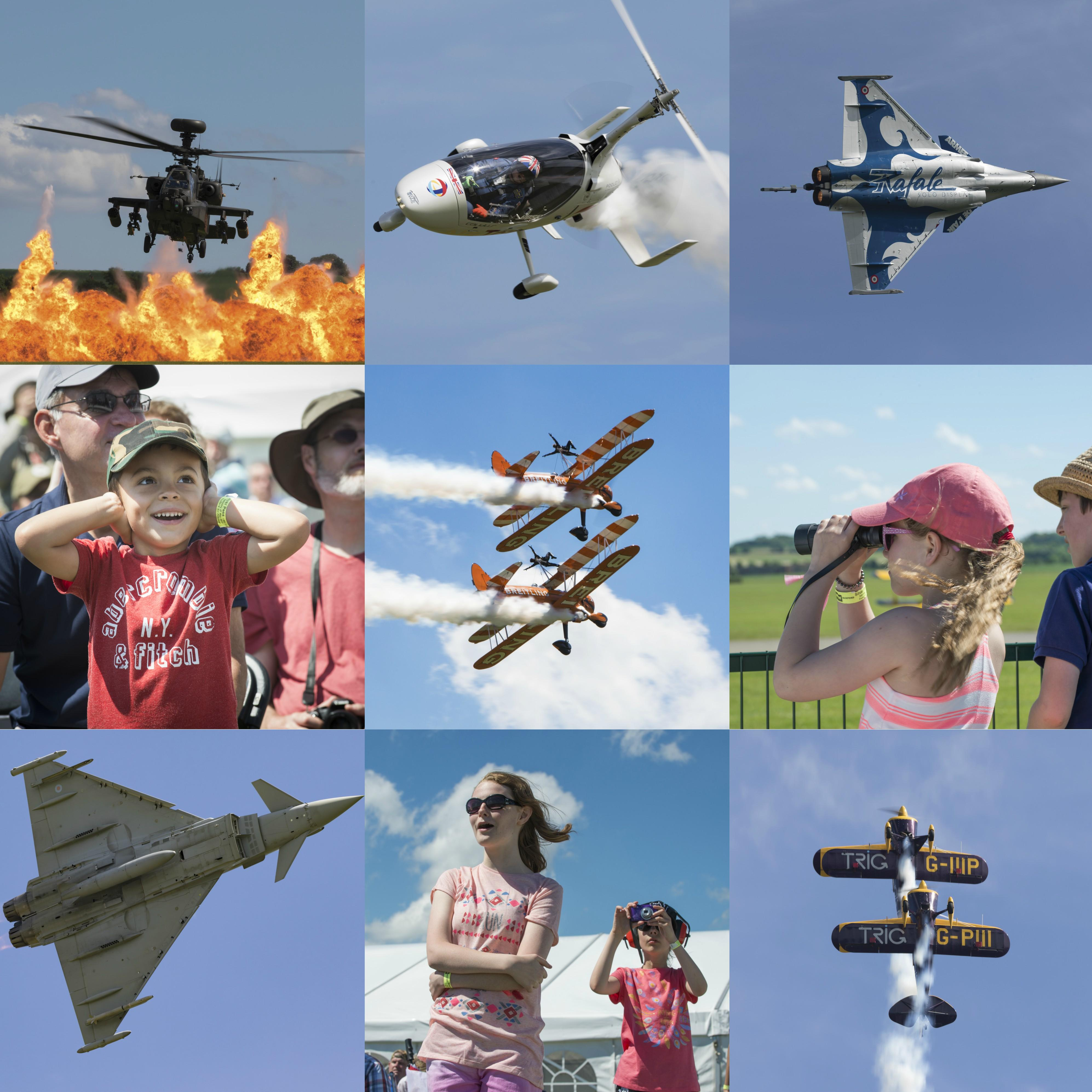 The excitement of the Duxford Air Festival