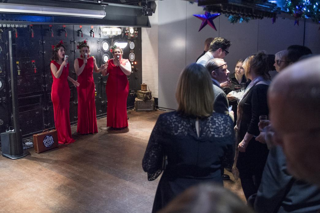 Patrons and their guests enjoy a range of special receptions, such as our Christmas Party held at Churchill's War Rooms