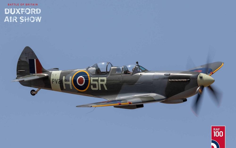 Supermarine Spitfire T9 PV202 at Duxford Air Shows