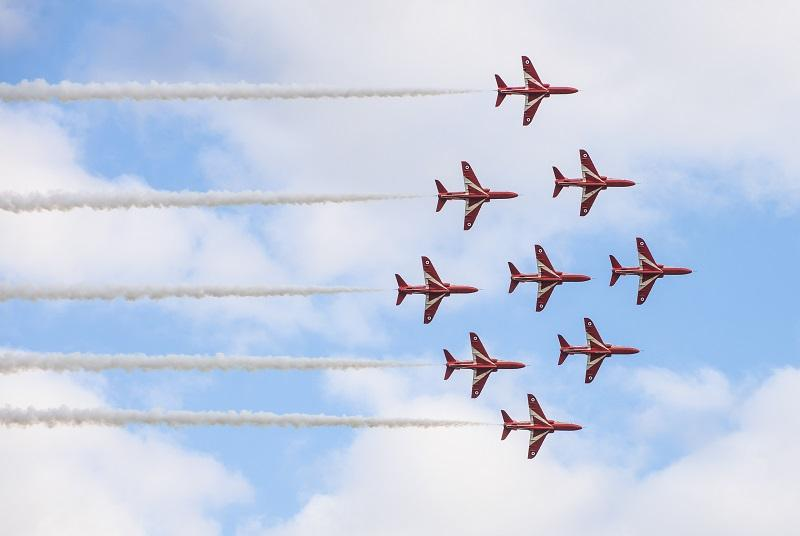 Red Arrows at Battle of Britain Air Show 2018