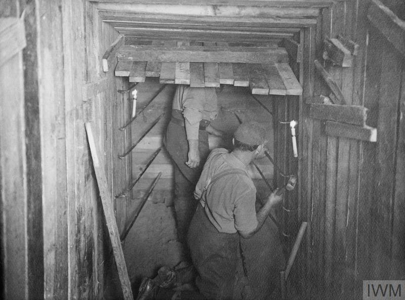 The 2nd Australian Tunnelling Company at work underground