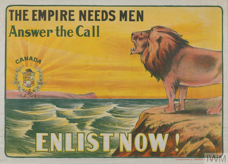 Poster 'THE EMPIRE NEEDS MEN Answer the Call ENLIST NOW!'