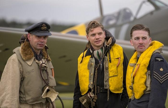 Costumed actors as 19 Squadron RAF at Duxford Air Shows
