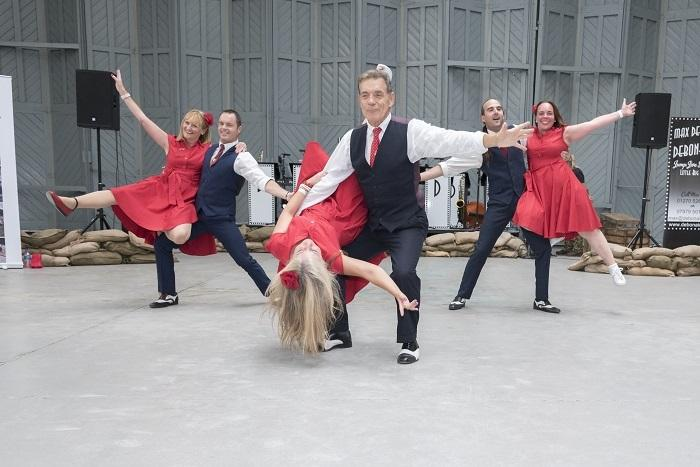Dancers at Duxford AIr Shows