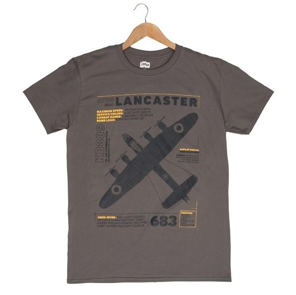 Brown t-shirt with Lancaster print