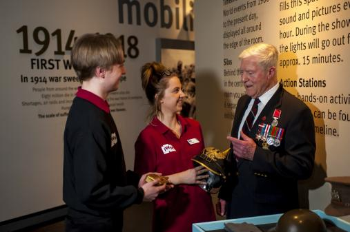 Customer Service Volunteers on gallery at IWM North