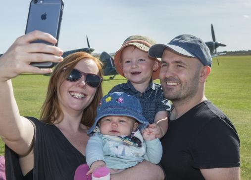 Family air show selfie