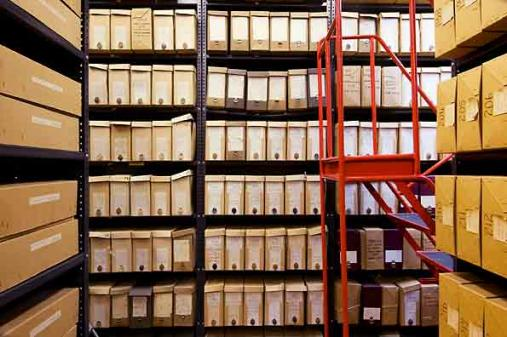 IWM Library stacks showing files