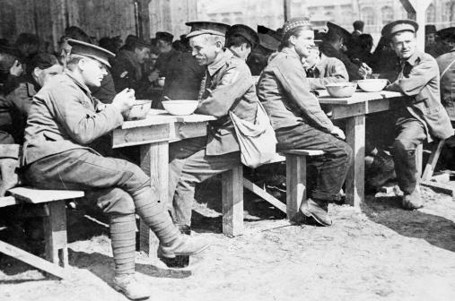 Canteen at Telton POW camp, Germany