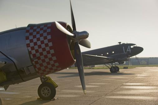 P-47D and C-47 at Sunrise, IWM Duxford Air Shows