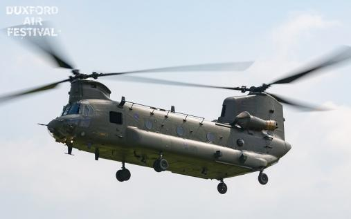RAF Chinook Display Team at Duxford Air Shows 2018