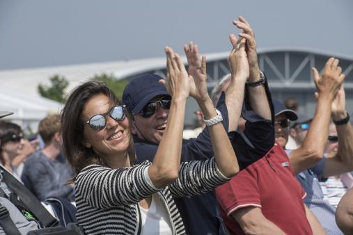 Duxford Air Festival crowd cheering
