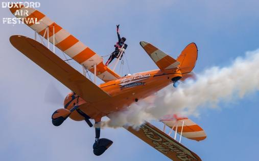 Aerosuperbatics wing walkers at Duxford Air Shows 2018