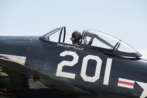 F8F Bearcat of the Fighter Collection at Flying Legends Air Show