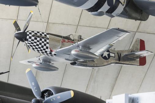 P-51 Mustang in the American Air Museum at IWM Duxford
