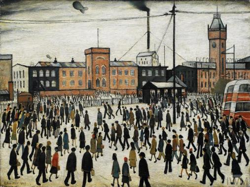 Laurence Lowry's painting 'Going to Work.'