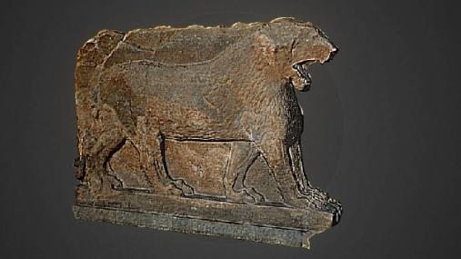 A 3D representation of the Lion of Mosul created by Rekrei