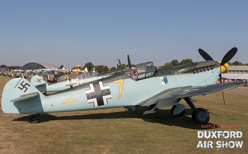 Hispano Buchon Yellow 7 at Duxford Air Shows