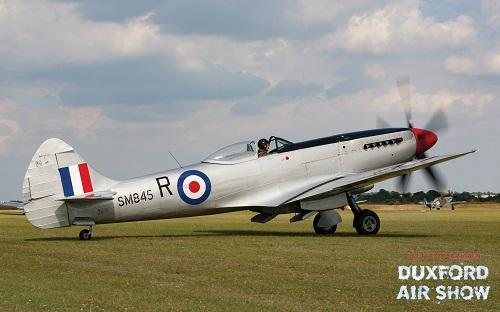 Spitfire Mk.XVII SM845 at Duxford Air Shows