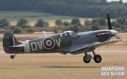 Spitfire Mk.Vc EE602 at Duxford Air Shows
