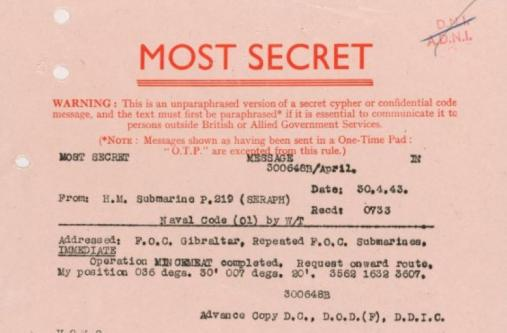 Operation mincemeat top secret document Imperial War Museums licensing