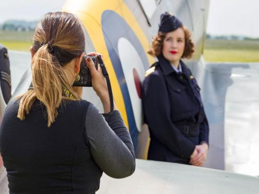 Photograph taken during a photography workshop at IWM Duxford
