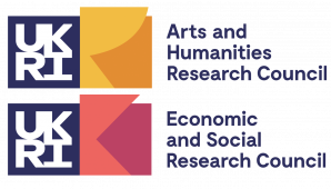 Logos for the Arts and Humanities Research Council and the Economic and Social Research Council