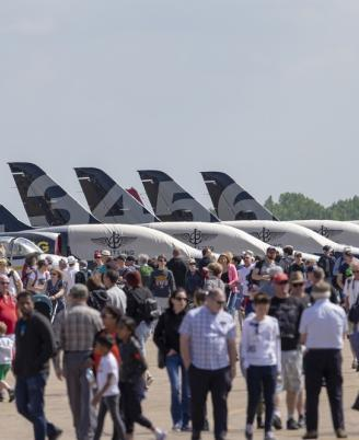 Flightline walk with Breitling Team and crowd at Duxford Air Festival 2019