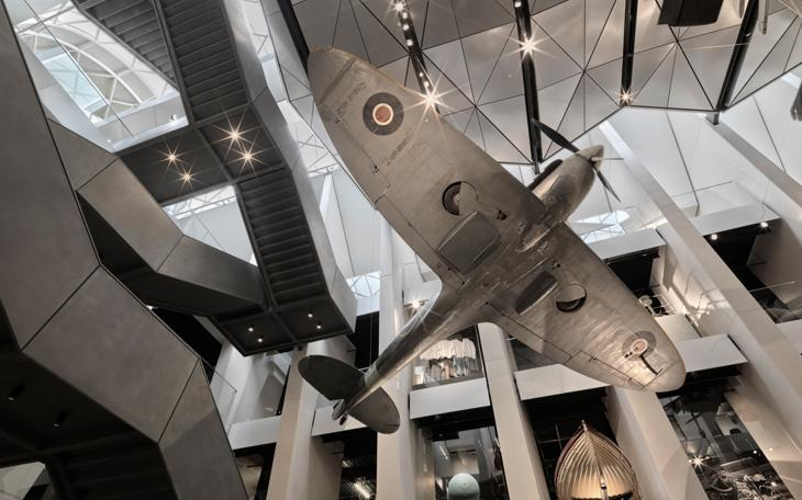 The Spitfire in IWM London's Atrium