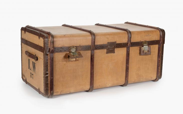 Trunk belonging to Leonard and Clara Wohl