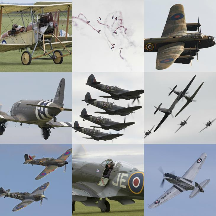 Excitement of Duxford Battle of Britain Air Show 2017