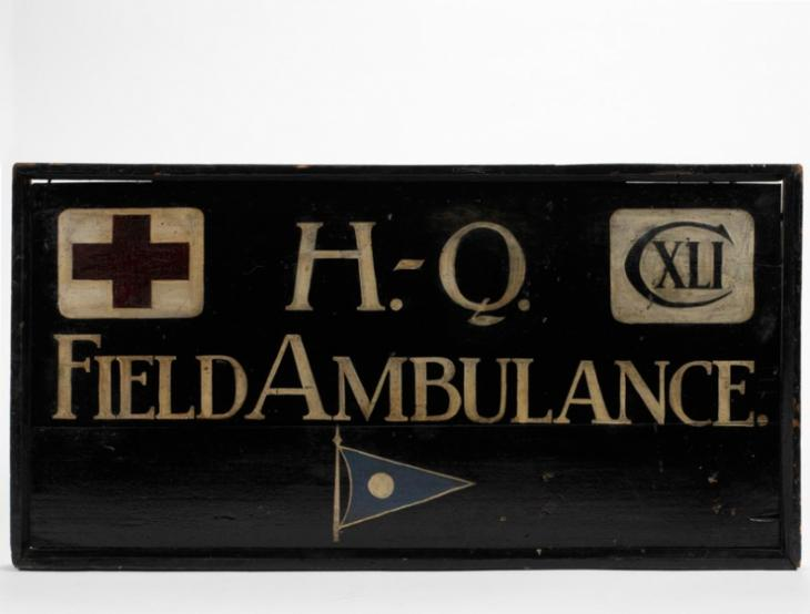 The headquarters sign of 141st Field Ambulance.