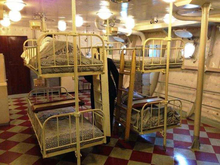 The sick bay on board HMS Belfast.