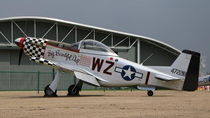 GA aircraft parked at Duxford