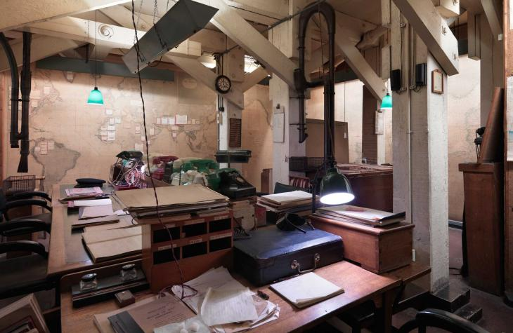 View of the Map Room at Churchill War Rooms